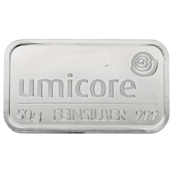 Zilverbaar Umicore 50 gram