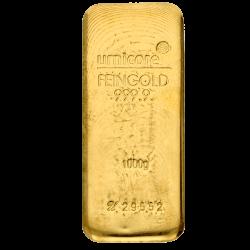 Goudbaar Umicore 1000 gram met certificaat