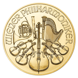 Gouden Philharmoniker 1/10 OZ divers jaar