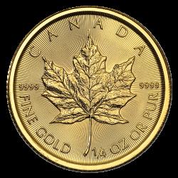 Gouden Maple Leaf 1/4 OZ divers jaar