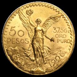Gouden 50 Pesos Mexico divers jaar