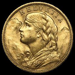 Gouden 20 francs Zwitserland divers jaar