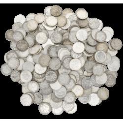 5 KG puur zilveren guldens Nederland diverse jaren