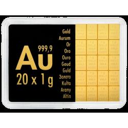 Goudbaar 20x1 gram Valcambi