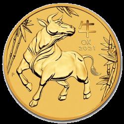 Gouden Lunar 1/4 OZ 2021