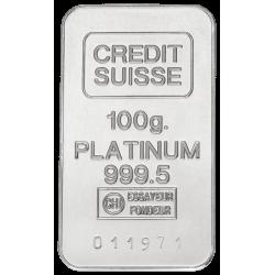 Platinabaar 100 gram (99,95%) diverse producenten